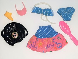 1987 Barbie California Dream Doll Clothes Polka Dot Bikini Skirt +Access... - $18.32