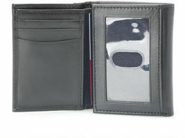 Tommy Hilfiger Men's Premium Leather Credit Card Id Wallet Trifold Black 5676-1 image 3