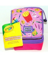 Igloo Sandwich Keeper Bag Lunch Box Bag - Crayons French Fries/Burgers C... - $7.07