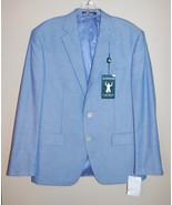 NEW Ralph Lauren Men Blue Cotton Blazer Lined Ultraflex size 38S $295 - $85.00