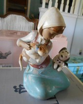 LLADRO-LITTLE FRISKIES #12266 GLOSSY DOG AND CAT - $139.90