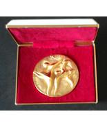 1972 Sapporo Japan Olympic Games Taro Okamoto medal original box+card container - $56.49