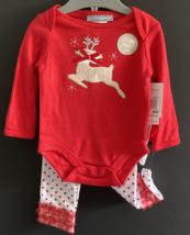 Christmas Reindeer Onesie, Leggings, and Headband ... SZ 6 MO - $16.00