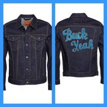 New Levi's Buck yeah Denim Trucker Jacket XXLarge Cotton Dry Navy Fashio... - $55.43
