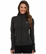 Bench Active Wear Womens Jet Black Marl Purna Fitness Yoga Zip Thru Jacket NWT