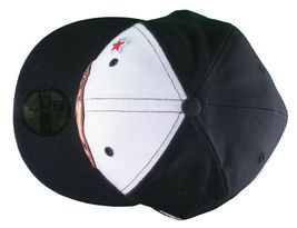 Dissizit California Skating Bear Sk8 Black W New Era 59FIFTY Fitted Baseball Hat image 6
