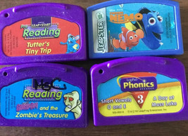LeapPad Leapster 4 Game Cartridges Reading Scooby Doo Nemo L03 - $19.79