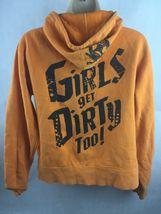 Off-Road Vixens Cotton Poly Orange Hooded Zipper Sweatshirt Size M image 3