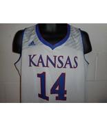Adidas White Kansas Jayhawks #14 Basketball Jersey XL NWOT - $24.99