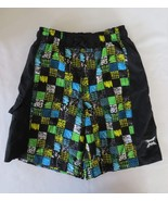 Boys Children's Place Bright Squares & Black Bathing Suit Shorts Size M - $6.79