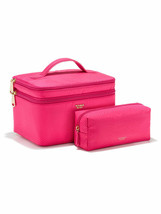 Victoria's Secret Duo Train Case & Cosmetic Bag PINK  New - $34.64