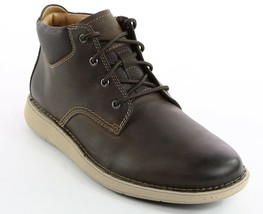 Mens Clarks Unstructured Larvik Top Ankle Boots - Brown Leather [261 44604] - €111,09 EUR