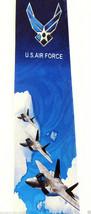 US Air Force Men's Necktie American Military Pilot Airplane Jet Blue Neck Tie  image 2
