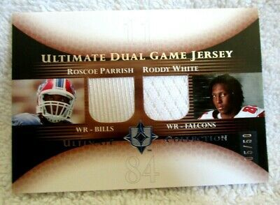 Primary image for Roddy White/Roscoe Parrish RC 2005 Ultimate Collection Dual Patch#5/50 PSA10?