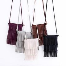 Vintage Women Shoulder bags PU Leather Tassel Handbags - $14.79