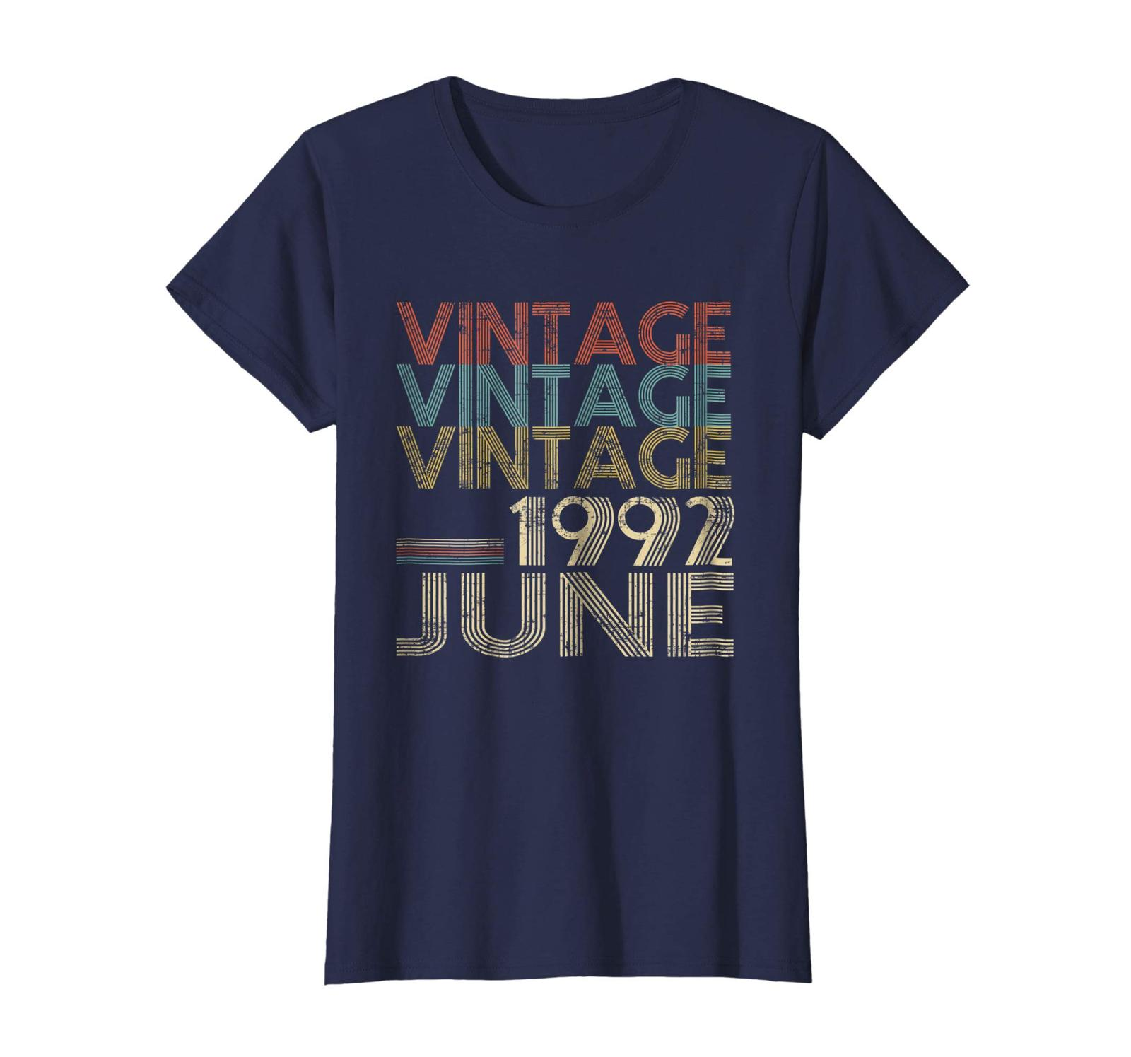 Uncle Shirts -   Retro Classic Vintage Born In JUNE 1992 Gift 26 Years Old Wowen image 3