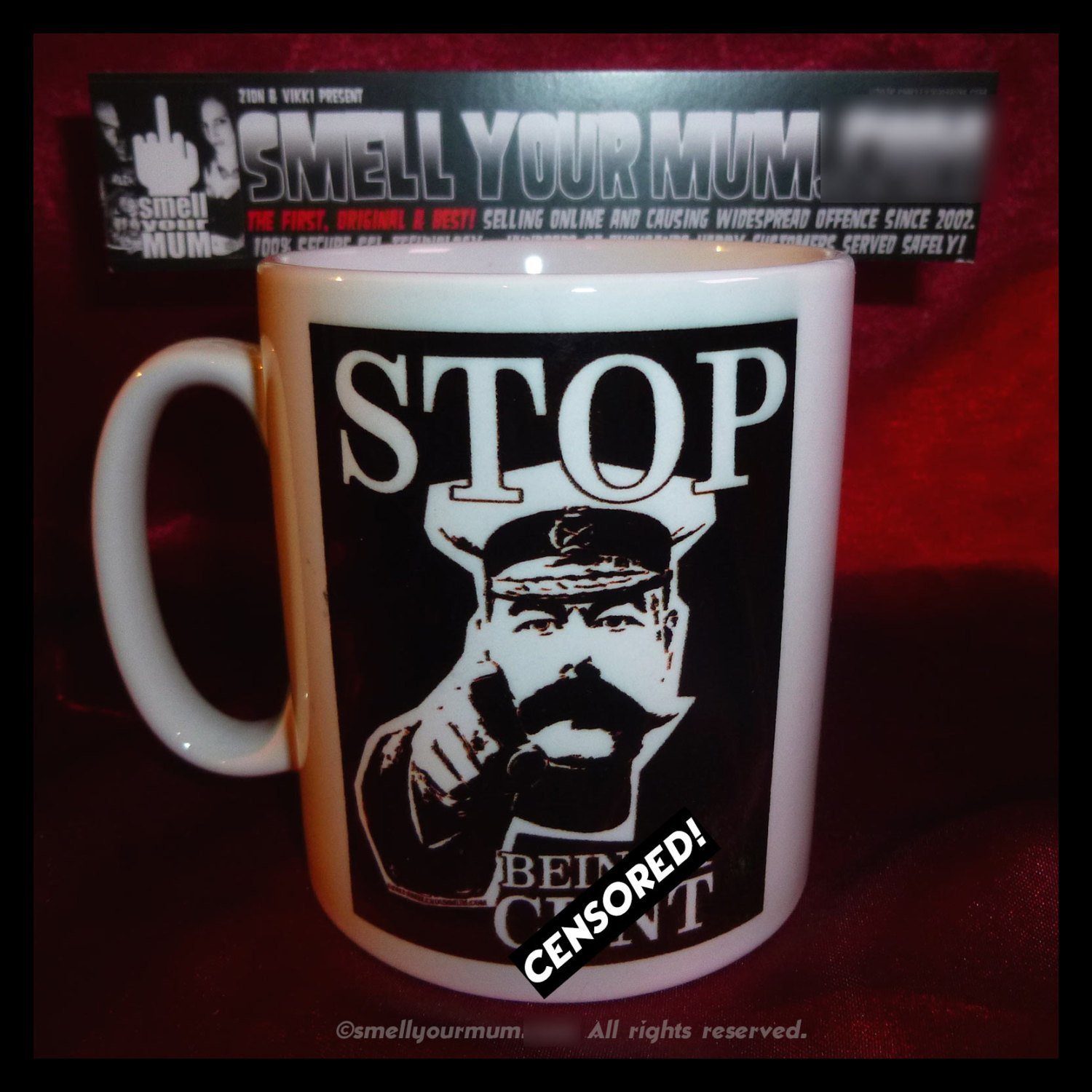 "Primary image for Stop Being A C%@t (Kitchener parody) - The ORIGINAL RUDE MUG! ""- Mature"""
