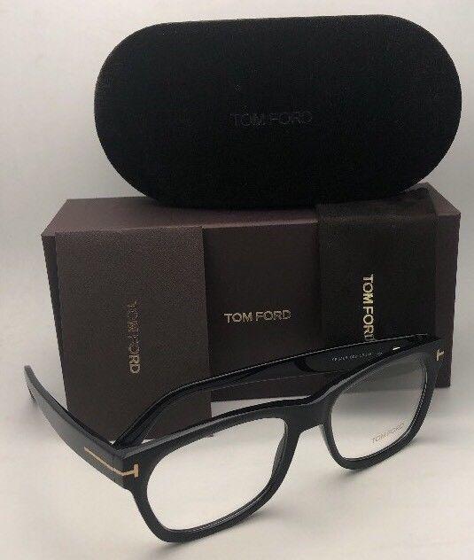 New TOM FORD Eyeglasses TF 5468 002 55-18 145 Black Matte-Black & Gold Frames