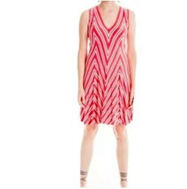 Max Studio Sleeveless Chevron Print Dress Red Size S A line knee length ... - $49.49