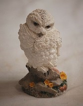 "Snowy Owl Resin Bird Figurine Shadow Box 3-7/8"" Tall - $9.89"