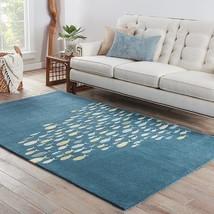 Designer Tropical Coastal Beach Fish Wool Blue Area Rug **FREE SHIPPING** - $99.00+