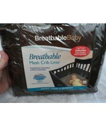 Breathable baby Mesh Crib Liner Brown - $10.50
