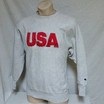 VTG Champion Reverse Weave Sweatshirt USA Olympics Jumper Warm Up Basket... - $39.99