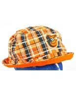 Baltimore Orioles Orange Black Plaid Floppy Beach Bucket Hat Miller Lite... - $9.99