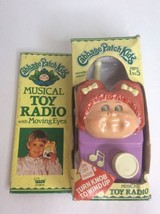 1984 Cabbage Patch Kids Musical Toy Radio Moving Eyes Wind Up Toy Music Box RARE - $50.48
