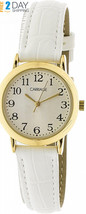 Timex Women's Carriage C3C747 Gold Leather Quartz Fashion Watch  - $36.52