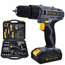 Power Tools Combo Kit With 18V Cordless Drill 77 Accessories Home Repair... - $59.49