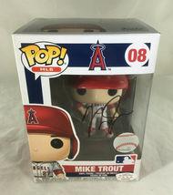 MIKE TROUT / AUTOGRAPHED L. A. ANGELS LOGO MLB FUNKO POP VINYL FIGURINE / COA image 1