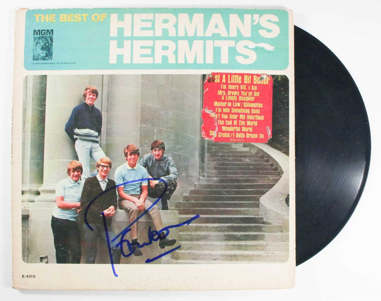 Primary image for Peter Noone Signed Autographed ''Herman's Hermits'' Record Album