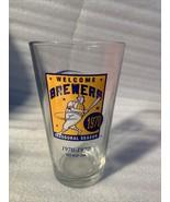 VTG Miller lite life Beer Milwaukee Brewers 1970  barrel man pint Glass ... - $19.99