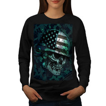 War Skull Biker Death USA Jumper USA Troop Women Sweatshirt - $18.99