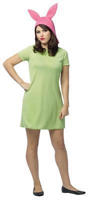 Bob's Burgers Louise Costume Women Adult Green Dress One Size GC3883