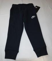 Boy's Nike fleece sweat pants 4 XS Youth active 8MB252 695 Obsidian navy Swoosh - $49.49