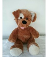 "Brown Sugar Puppy Dog Plush Toy 15"" White Eye Patch Build A Bear Workshop - $16.36"