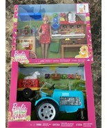 Barbie Sweet Orchard Farm Blue Tractor And Farm Stand Play Set Barbie Fi... - $79.19