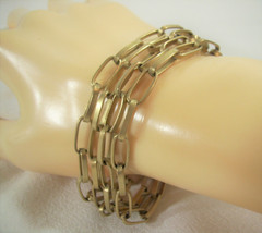 KENNETH COLE Cable Link Chain Bracelet Gold Plated 4 Rows MAGNETIC CLASP... - $17.81
