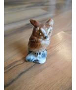 Old Vintage small little mini miniature figurine animal owl bird decorat... - $6.99