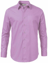 Boltini Italy Men's Long Sleeve Solid Regular Fit Lilac Dress Shirt - XL image 2