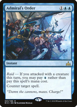 MTG - Admiral's Order  - Rivals Of Ixalan -=NEW=- - $1.19