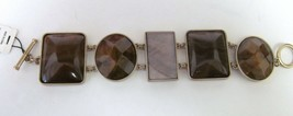 """Talbots Brace;Et Large Stones In Brushed Gold Look Setting 6 1/2"""" Nwt - $39.89"""