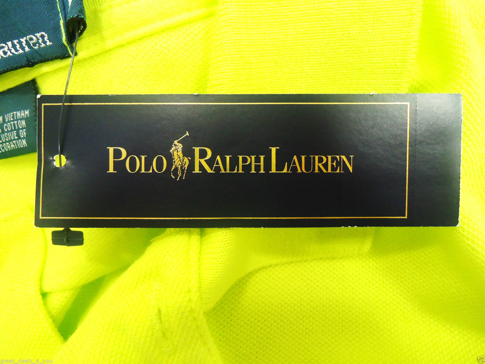 RALPH LAUREN - XL - CROSSED - MALLETS - FLORESCENT - GREEN - POLO - SHIRT - NEW