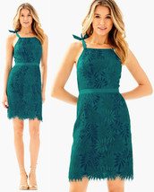 $238 Lilly Pulitzer Kayleigh Tidal Wave Fern Gallery Scallop Lace Shift ... - $157.50