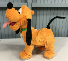 "VTG Disney Pluto Rare Animated Singing Thinkway Toys 14"" Dog  *MUST SEE ... - $29.95"