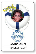 MARY ANN GILLIGANS ISLAND S.S. MINNOW NAME BADGE HALLOWEEN COSPLAY PIN BACK - $13.85