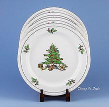 Set of 2 Dinner Plates, MINT UNUSED! Holiday Ho... - $15.43