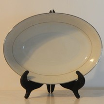 Vintage Tahoe by Noritake White Floral on White Oval  Vegetable Bowl - $59.39